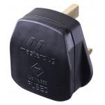 Masterplug PT13B Rewireable 13A Fused Plug Black