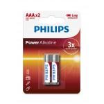 Philips LR03P2B/97 Power Alkaline Batteries AAA 2 pcs/pack