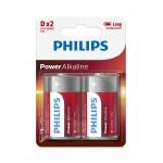 Philips LR20P2B/97 Power Alkaline Batteries D 2 pcs/pack