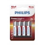 Philips LR6P4B/97 Power Alkaline AA batteries  4 pcs/pack