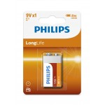 Philips 6F22L1B/97 LongLife Zinc Carbon Batteries 9V 1 pcs/pack