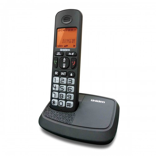 Uniden AT4103 DECT (1.8 Ghz) Name and Number CID Speakerphone Big LCD and Keypad Backlit  Black