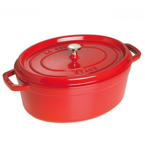 STAUB OVAL COCOTTE 1102706 CHERRY  27cm /3.2L Made in France CAST IRON
